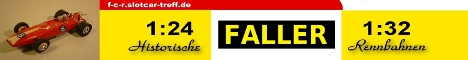 23 Faller Club Racing international Rennbahnautos