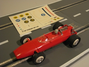 Faller Club Racing 6677 Ferrari F1 rot mit Decals